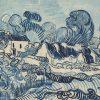 LaquePrint op hout – Landschap met huizen – Vincent van Gogh – 26 x 19,5 cm – bestelnummer: LP203